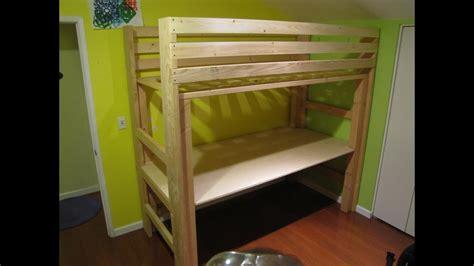 xl twin college loft bed diy youtube