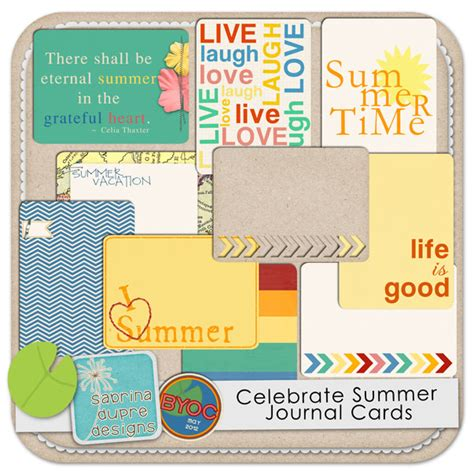 Celebrate Gift Card - element packs digital scrapbooking elements the lilypad