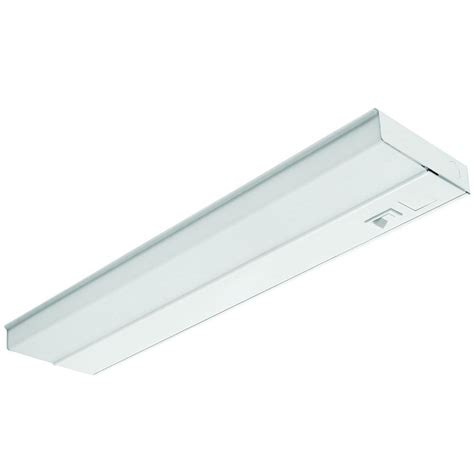 lithonia cabinet lighting lithonia lighting 24 in t5 fluorescent white cabinet uc 24e 120 swr m6 the home depot