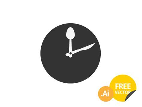 Kitchen Design Templates food clock icon vector