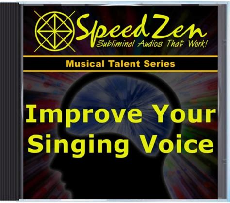 improve your singing voice subliminal cd speedzen