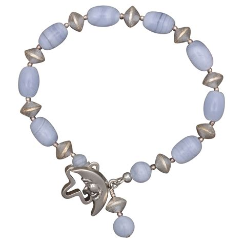 blue lace agate and silver bracelet from sundancegems on