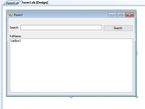 search pattern vb net how to search items in listbox using vb net