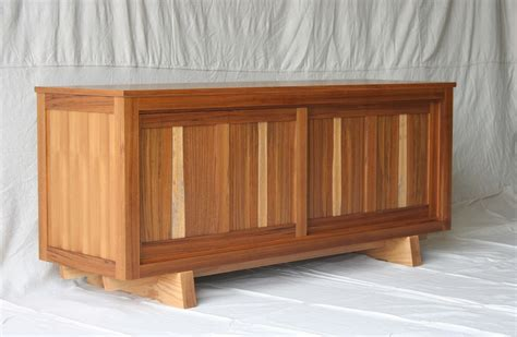 Hand Made Teak Tv Console Cabinet by Natural Mystic