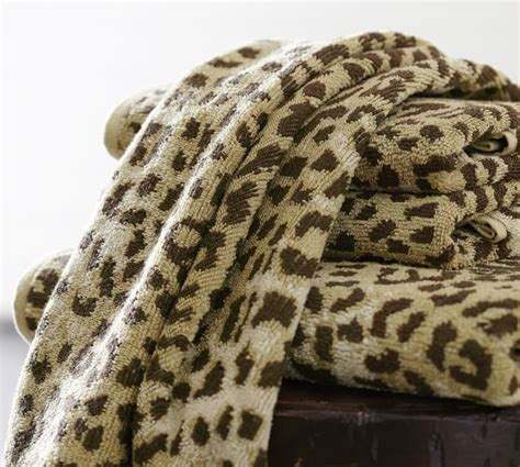 Leopard Rugs For Sale Leopard Jacquard 600 Gram Weight Bath Towels Pottery Barn