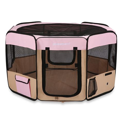 portable puppy playpen soft pet playpen puppy cat crate cage tent portable fabric new waterproof l ebay