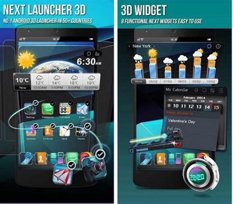 3d app android best 3d launcher for android with excellent effects