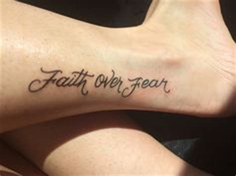 faith over fear tattoo for those i i will sacrifice right back shoulder