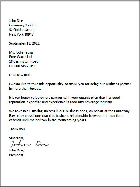 purpose of attention line in business letter exle of business letter with attention line