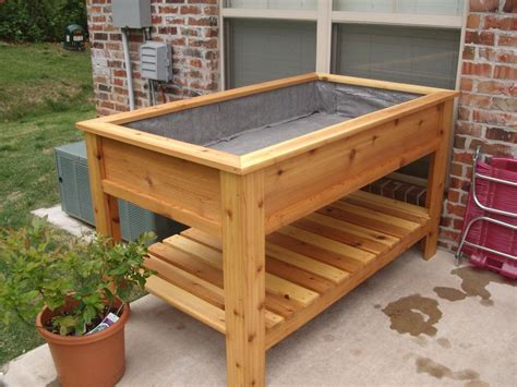 Elevated Planter Box by Cedar Raised Garden Box By Jbergh Lumberjocks