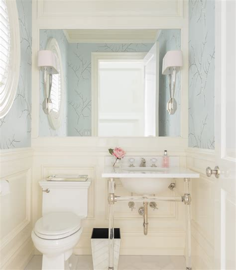 powder room bathroom and blue powder room transitional bathroom