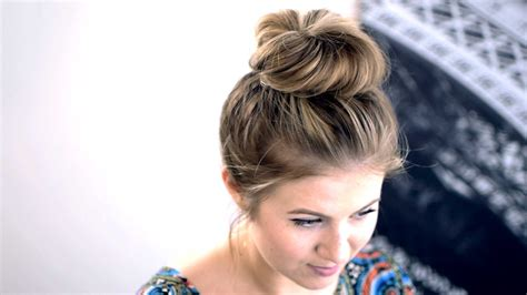 Top Knots For Short Hair | messy top knot for short hair tutorial qtiny com