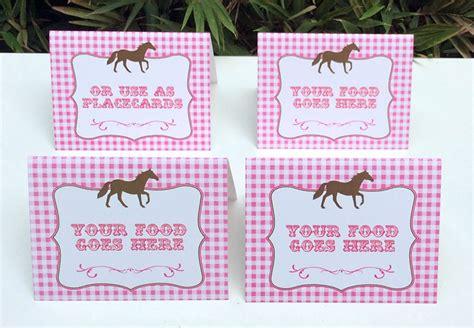 printable horse name tags horse birthday party printable templates pony party theme