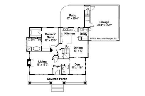 Craftsman Home Floor Plans by Craftsman House Plans Carrington 30 360 Associated Designs