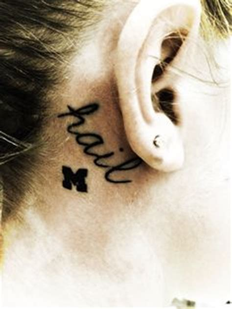 loyalty tattoo behind ear 1000 images about maize blue ink on pinterest
