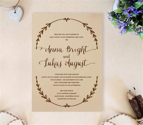 Rustic Wedding Invitations 1