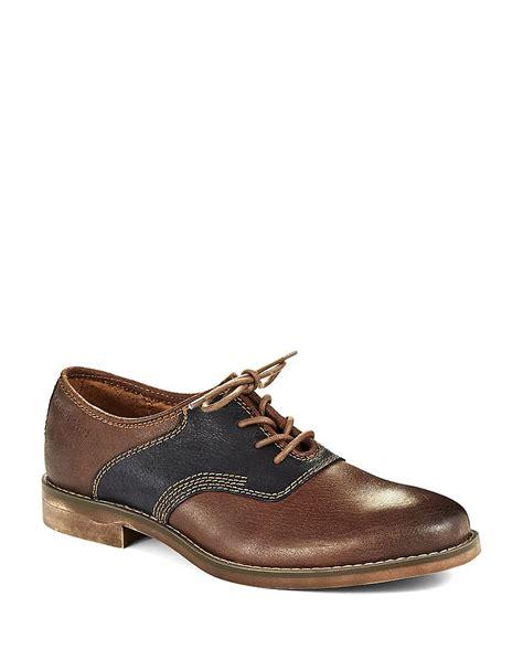 calvin klein oxford shoes calvin klein oris oxford shoes in brown for lyst