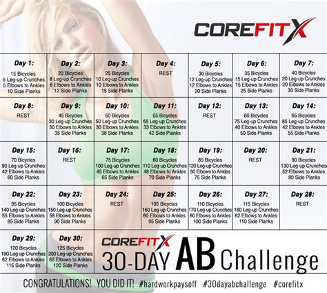 30 Day Ab Challenge Calendar Search Results For The 30 Day Ab Challenge Calendar