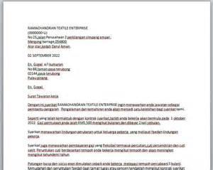 contoh surat tawaran pekerjaan contoh resume