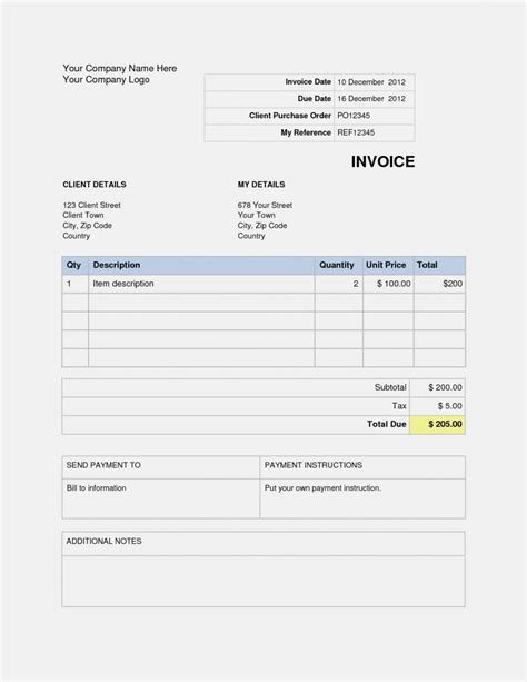 templates for wordpad invoice template for wordpad invoice template 2017