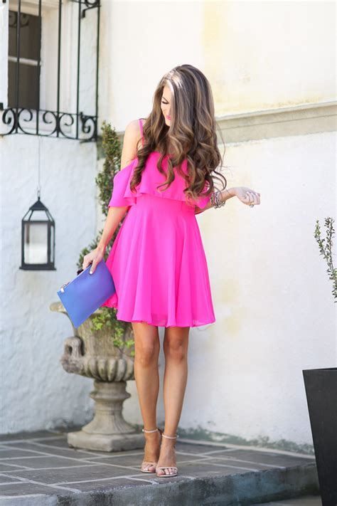 Dress Pearl Hotpink southern curls pearls pink