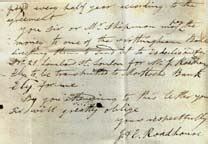Bank Letter Of Nottingham Two Letters From Mr J Roadhouse Of Ely To Mr Hurst Nottingham 1824