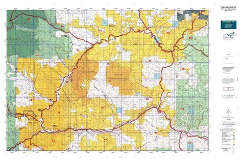 colorado elk unit map colorado gmu 35 map mytopo