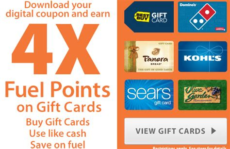 Can You Use Kroger Gift Cards For Gas - kroger 4x fuel rewards on gift cards