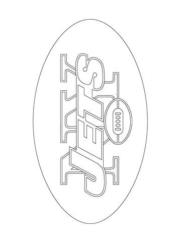 New York Jets Coloring Pages new york jets logo coloring page free printable coloring