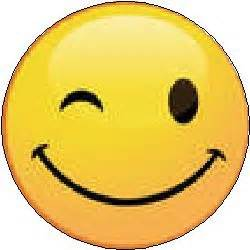 winking smiley face emoticon wink happy face clipart best