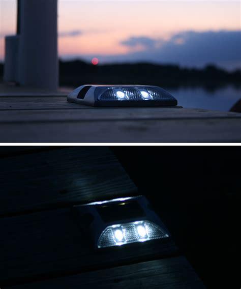 solar dock lights marine marine grade aluminum solar deck or dock light