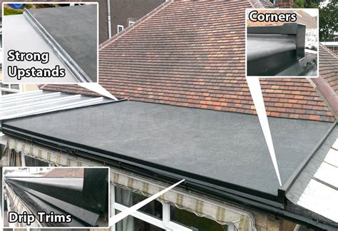 new epdm flat roof installed how to install epdm rubber roof easy diy fitting instuctions by pros