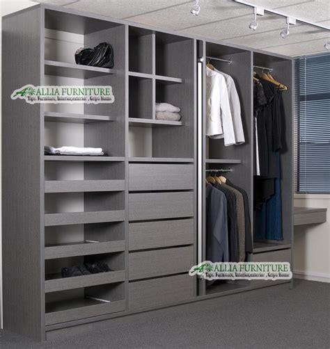 Lemari Pakaian Tanpa Pintu model tipe dari lemari pakaian minimalis allia furniture