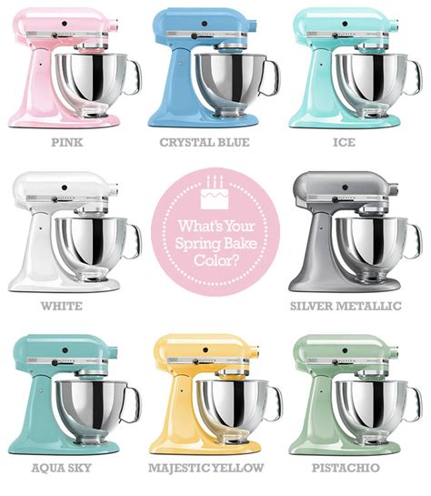 kitchenaid mixer colors it s a spring bake giveaway