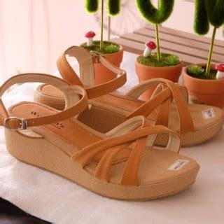 Sandal Wanita Asli Platform Sandal Wanita Change elfa04 sepatu sandal sendal wedges wanita cewek kulit santai keren asli harga murah terbaru