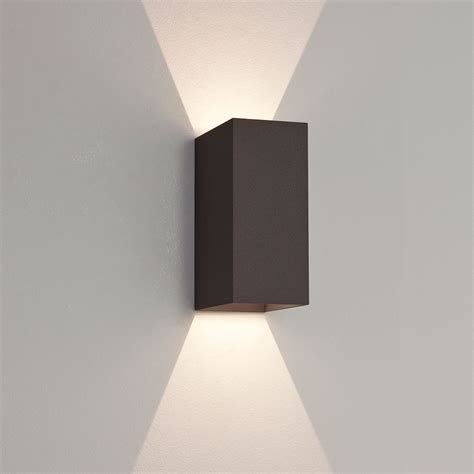 led outdoor wall lights astro oslo 160 black outdoor led wall light at uk