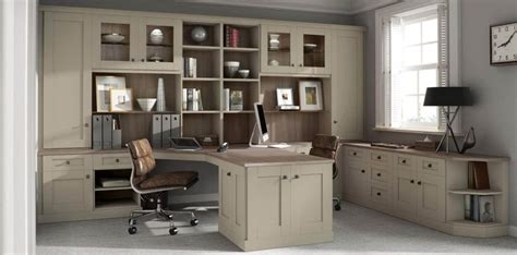 Home Office Fitted Furniture Verona Fitted Home Office In Driftwood By Strachan