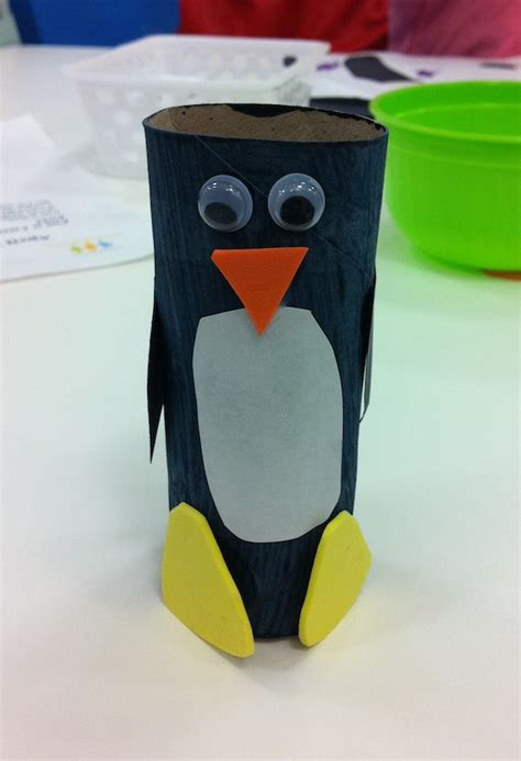 Paper Penguin Craft - momstown winnipeg penguin toilet paper roll craft