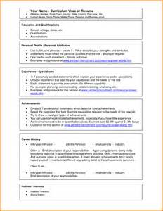 Brief Summary For Resume 7 Microsoft Word Templates Free Download Itinerary