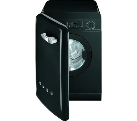 black machine buy smeg wmfabne1 washing machine black free delivery currys