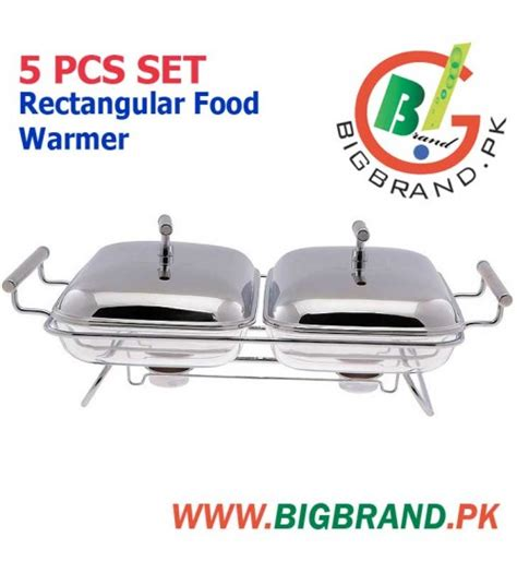 Vicenza Rectangular Food Warmer 5 pcs glass rectangular food warmer set