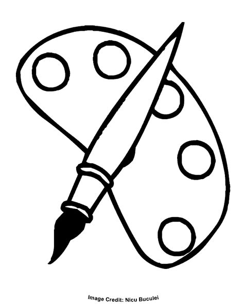 Free Coloring Pages Of Paintbrush Paint Coloring Pages