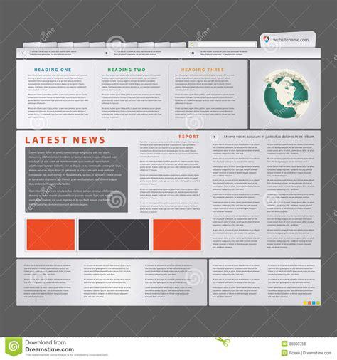 editable templates for blogger news blog royalty free stock image image 38303756