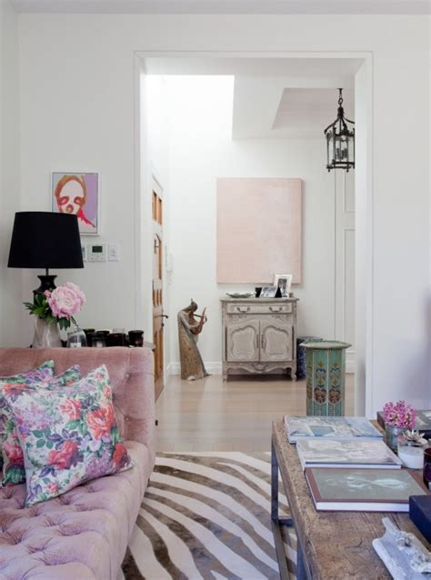 Girly Living Room Wallpaper Girly Living Room Home Pink Accents