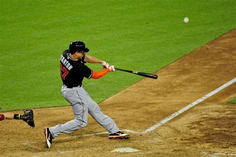 miami marlins giancarlo stanton hits career homers 99