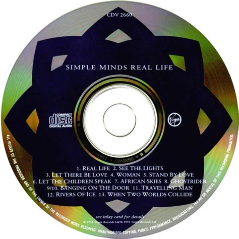 Cd Simple Minds Real car 225 tula cd de simple minds real portada
