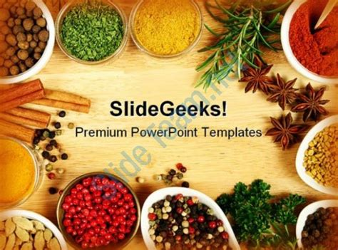Spices Food Powerpoint Templates And Powerpoint Backgrounds 0311 Powerpoint Slides Diagrams Food Powerpoint Template