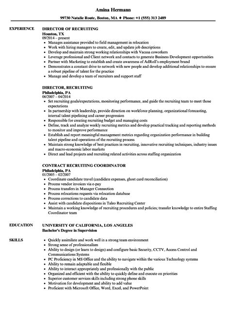 Recruiting Resume by Recruiting Resume Sles Velvet