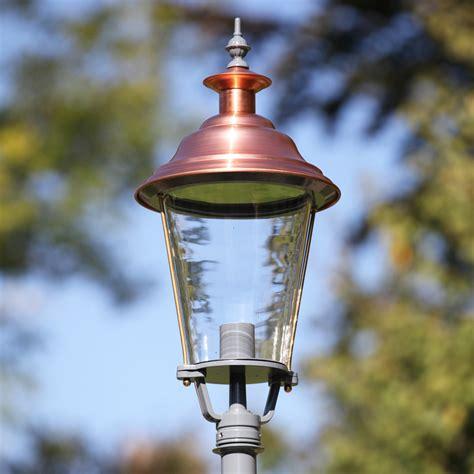 copper l post lantern lower rhine style copper post light rodos l xl 41 terra lumi