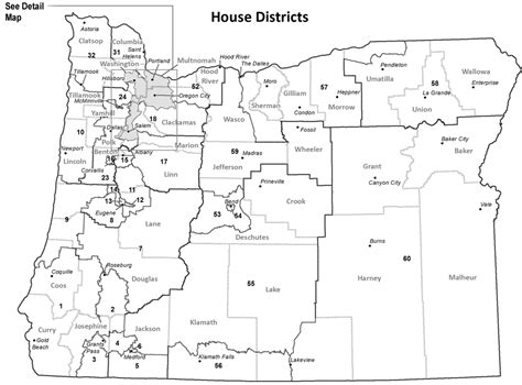 map of oregon districts oregon blue book representative district maps